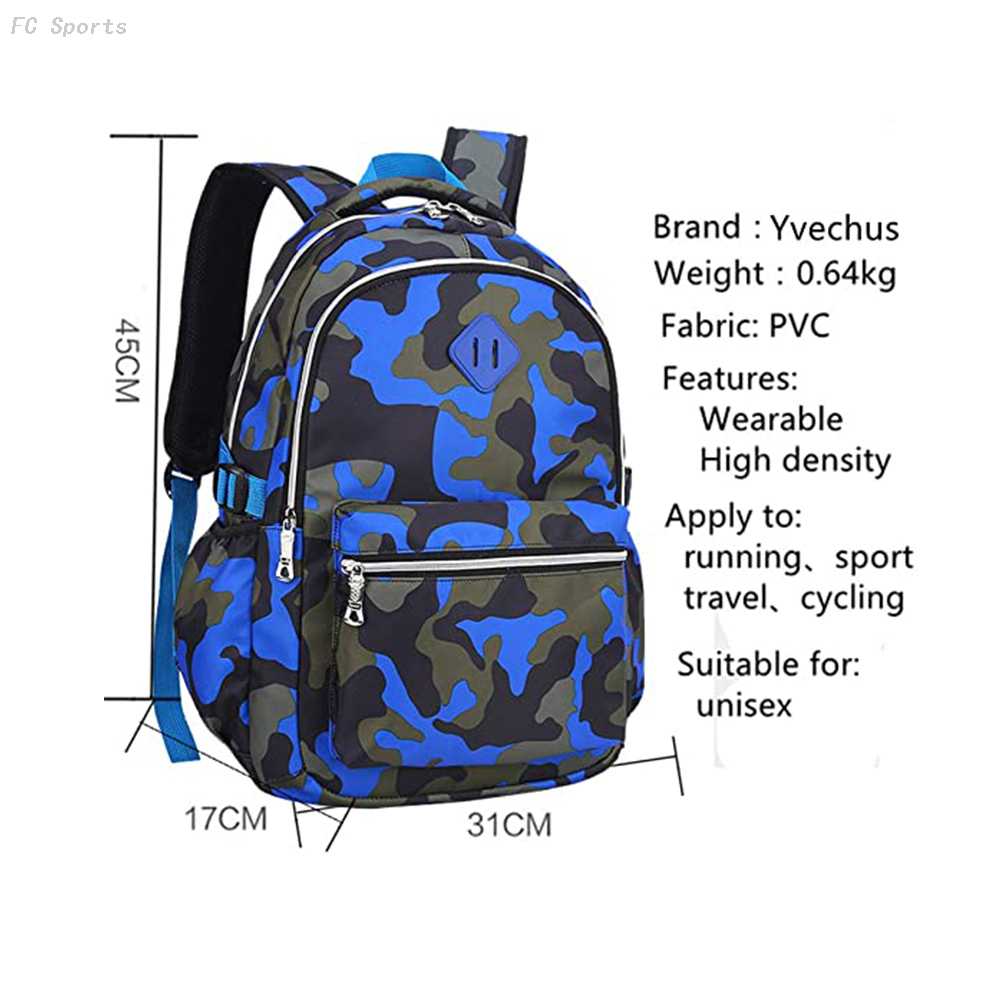 Casual Daypack Travel Outdoor Camouflage Backpack school bags for boys