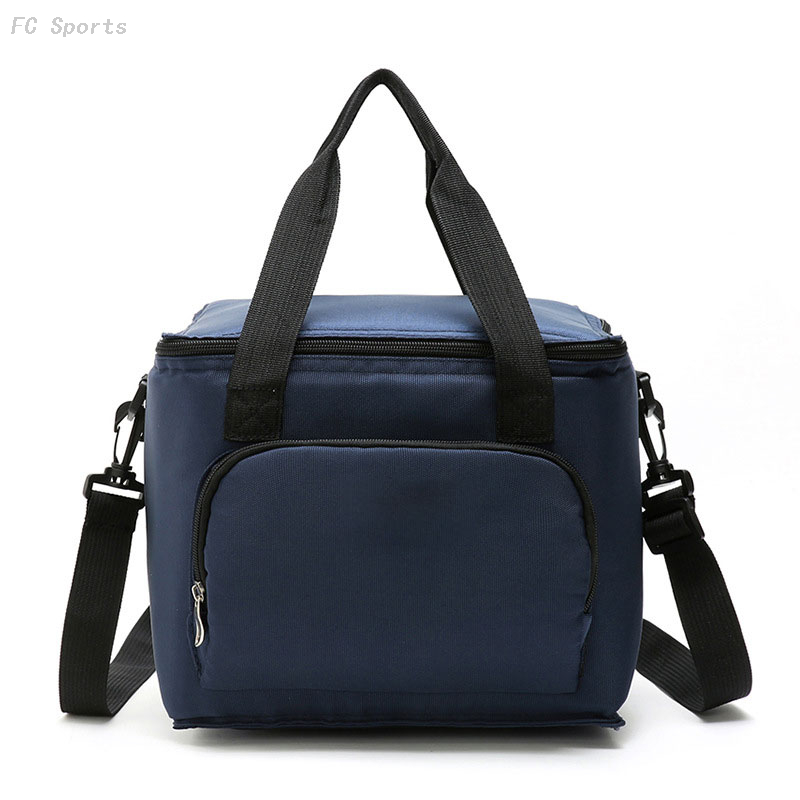 New arrival portable multi-color oxford double deck adult lunch bag thermal picnic cooler bag