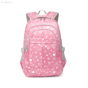 Hearts Print Kids Elementary School backpack Bookbag School Bags For Girls