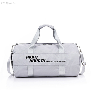 Customized Logo White Duffle Bags Gym Women Waterproof Sports Travel Bag