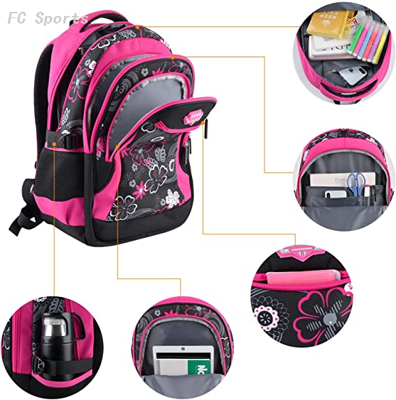 Fanspack school bag bookbags for girls school backpack nylon girls school bags