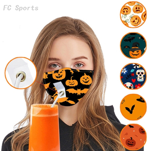Halloween Series Washable Masks with Sippy Slot
