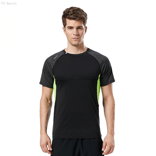 FC Sports Gym Yoga Train Wear Running Garments Men Clothing Tee Shirts Round Neck Reflective Night