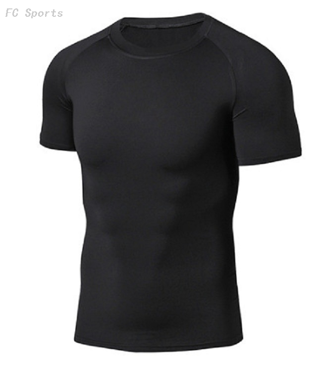 Fitness clothes, men's basketball training, sports tights, breathable, quick-drying, running, short sleeve