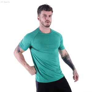 FC Sports Men Clothing Tee Shirts Round Neck Print Tops Gym Yoga Train Wear Running Garments