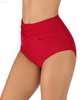 FC Sports Solid Red Swimming Briefs Solid Ladies Bottom Beach Sexy Women Summer
