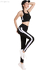 No steel ring stitching sports bra Shockproof fitness vest Quick-drying legging yoga suit