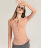 Autumn&Winter Drawstring Yoga clothes tops casual Slim and quick-drying running zipper sportswear