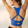 Women's sports bra, Back cross design at back, anti-bacterial, breathable, DRY FIT