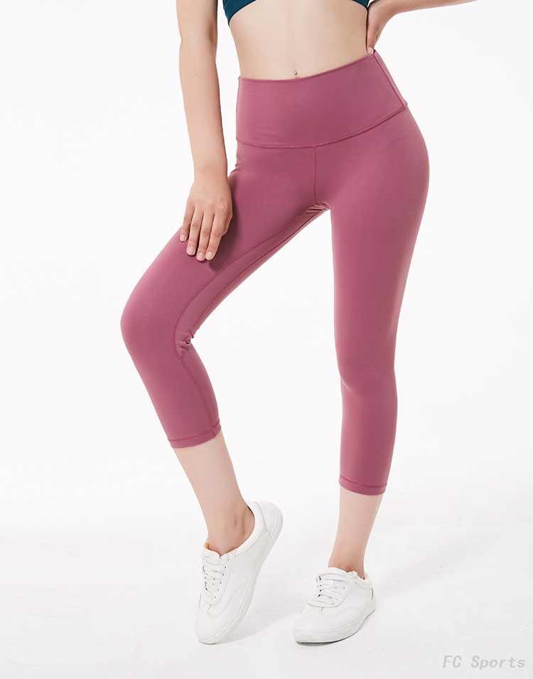 FC Sports 2019 Sports Yoga Cropped Pants Women's Hips Running Fitness Pants Quick-drying Elastic Wholesale