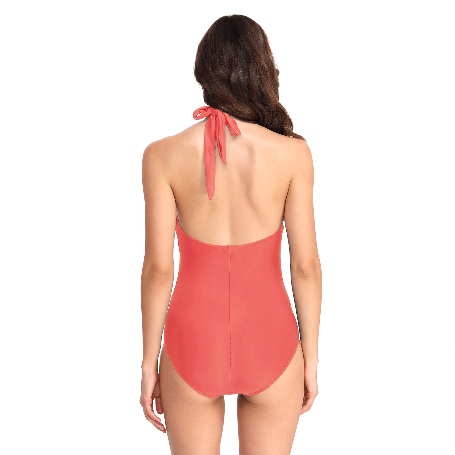 FC Sports Wear New Front Opening Bodysuit Women Open Back One Piece Backless Tether Bathing Suit Beach Living Coral 2019