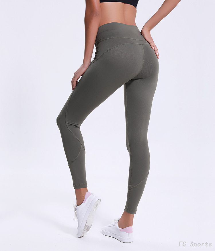 FC Sports Fitness Pants Women's Stretch Tights Sports Pants Striped Running Yoga cropped 2019 Wholesale