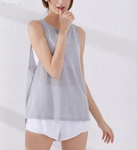 Lady Tank Top, Knotted design at back, dry fit, anti-bacterial, breathable,fashionable