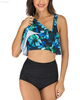 FC Sports Swimming Wear Printing Shirt Ladies Top and bottom Beach Sexy Women Adjustable