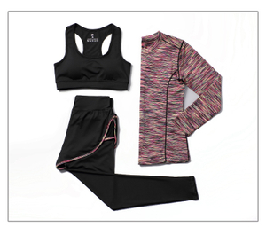 Women's 3pcs Sport Suits Fitness Yoga Running Athletic Tracksuits