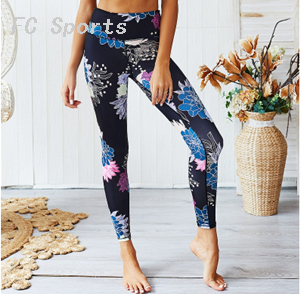 Sportswear Women Yoga Sets Floral Print Ensemble Tracksuit Gym Wear Running Clothing Sport Suit Sexy Fitness Top Leggings
