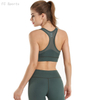 Yoga clothing women's suit seamless stretch tight mesh gauze breathable bra fitness exercise