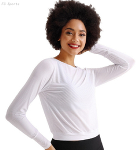 Sports Yoga Wear Tops Running Quick-drying Breathable Training Workouts Long Sleeve